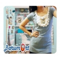 Kaos Korea Cute Biru