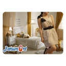 Ribbon Mini Dress Coklat